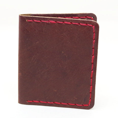 Billykirk Red Stitched Wallet