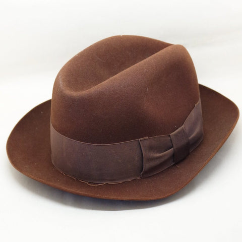 Vintage Lock & Co. Brown Felt Fedora- S