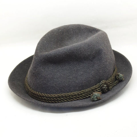 Vintage Green Tyrolean Hat- S