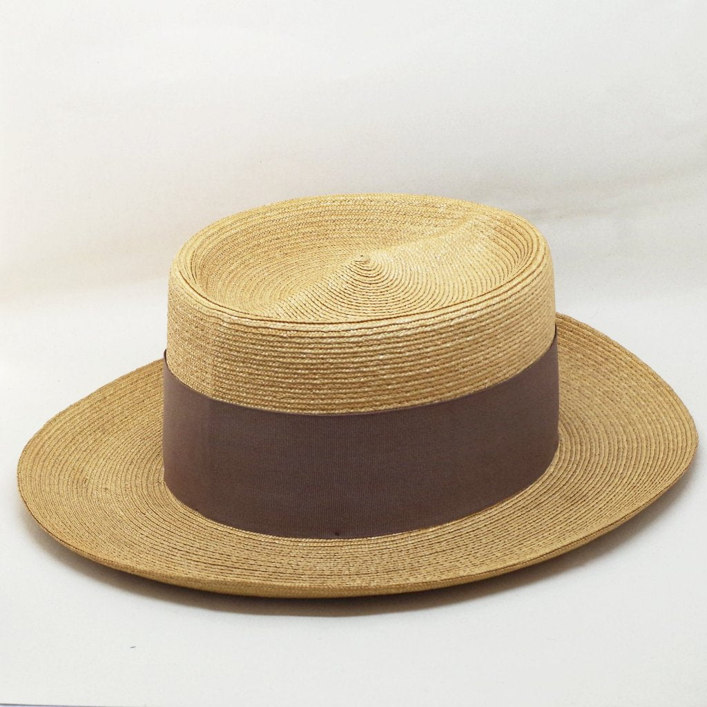 1920s Straw Summer Hat- 6 3/4