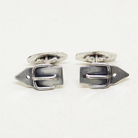 Sterling Buckle Cufflinks