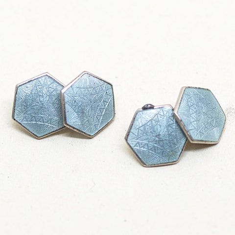 Light Blue Enamel Cufflinks