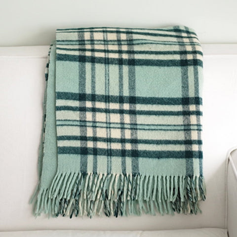 Seafoam Green Wool Throw