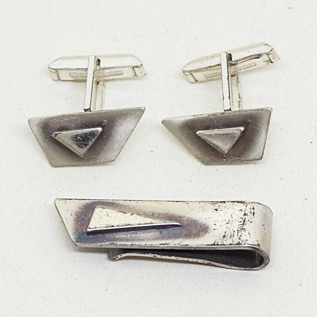 Modern Pointed Sterling Dress Set