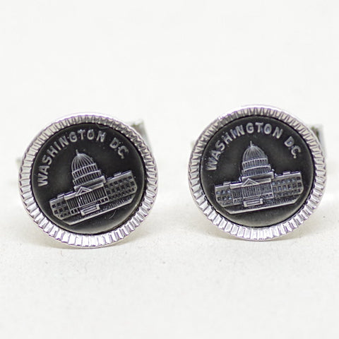 Sterling Washington DC Cufflinks