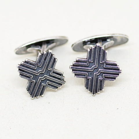 Ornate Sterling X Cufflinks