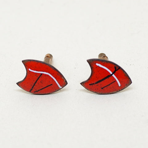 1960s Red Shield Enamel Cufflinks