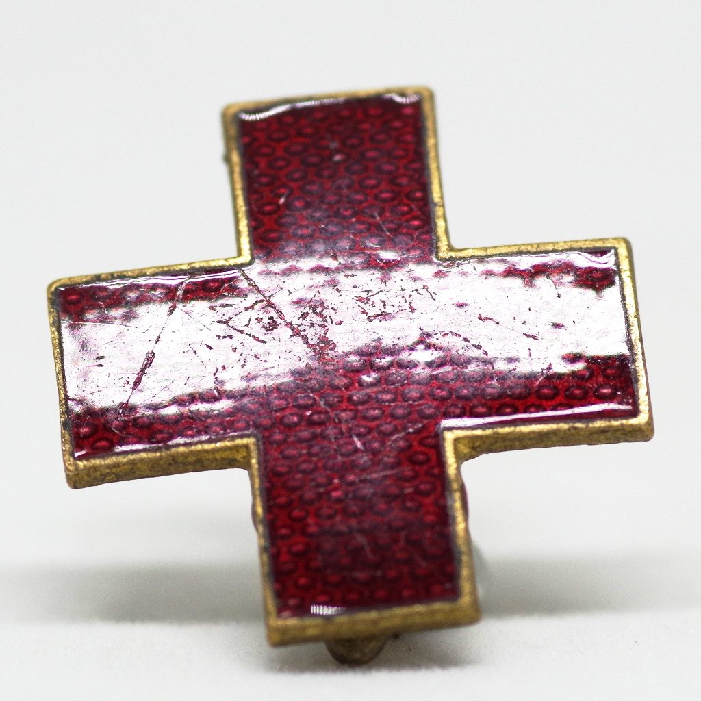 Enameled Red Cross Pin