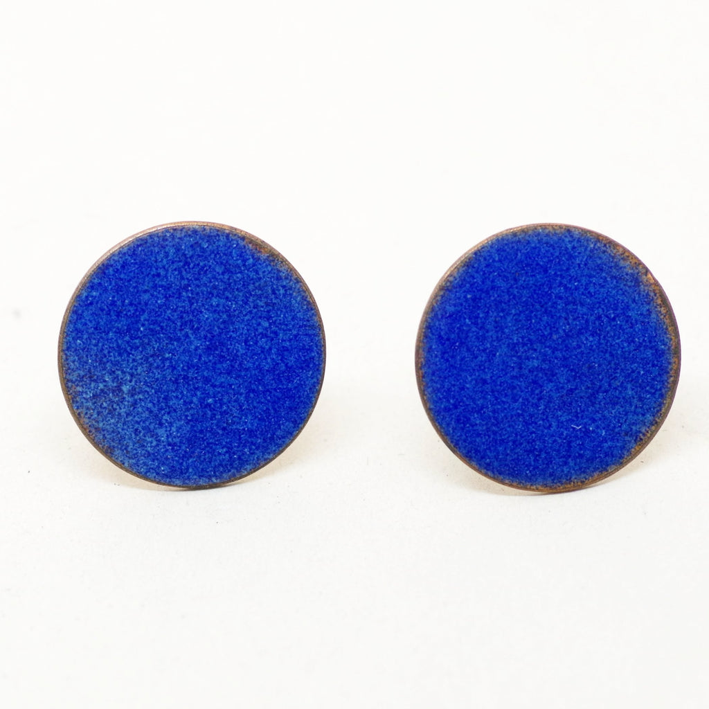 Big Blue Enamel Cufflinks