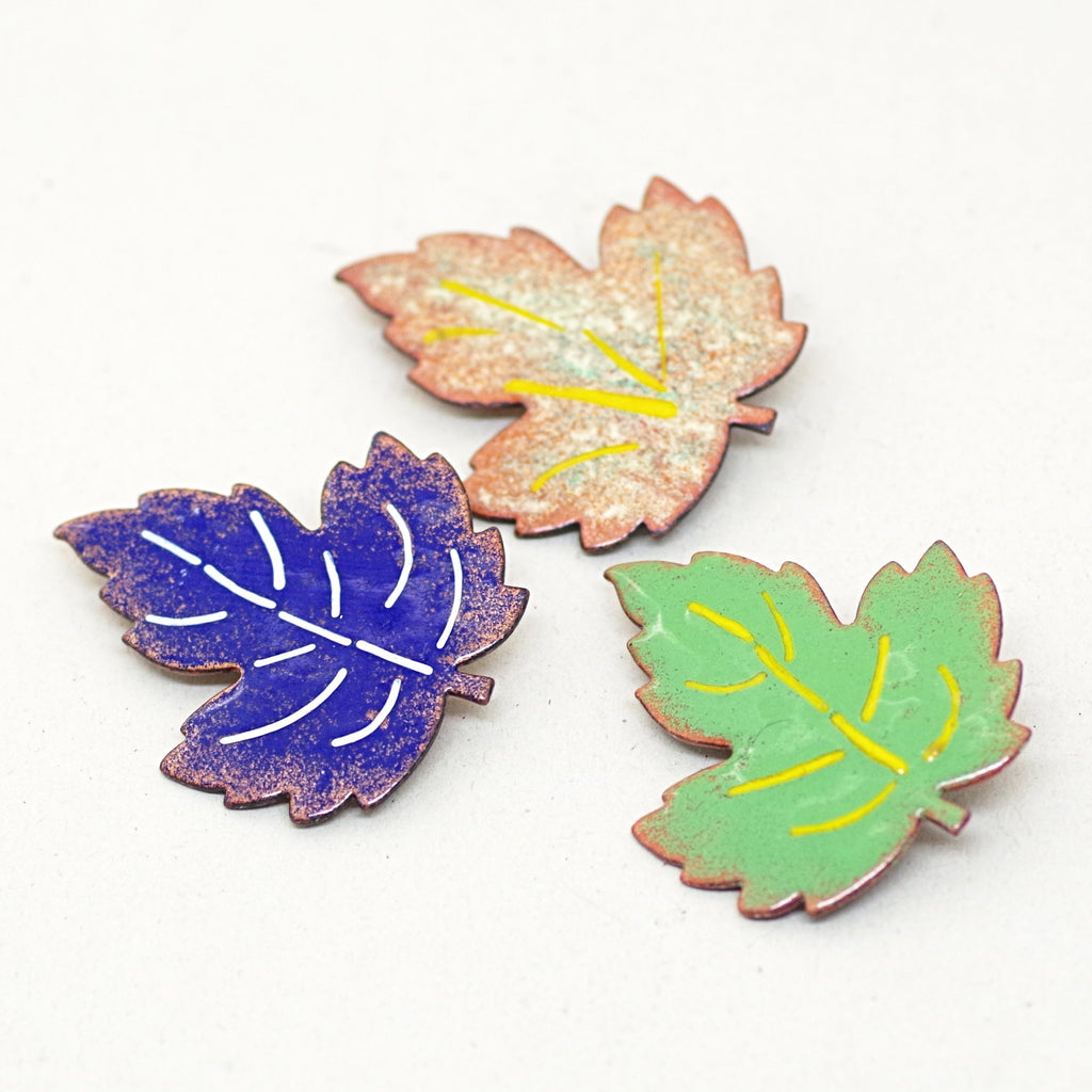 Enamel Leaf Pins