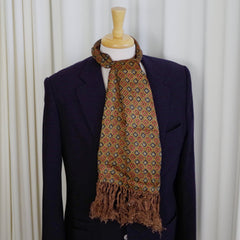 Red, Blue, and Gold Diamond Scarf