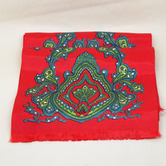 Striking Red and Green Scarf