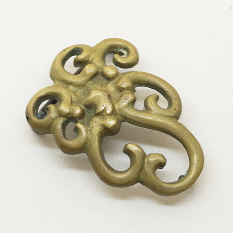 Swirling Art Nouveau Belt Buckle