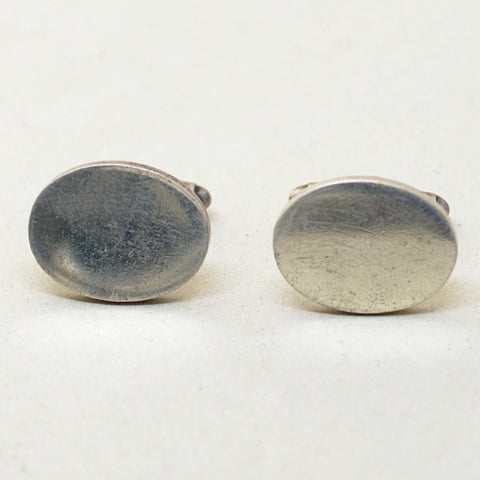 Plain Faced Sterling Cufflinks by Tiffany & Co.