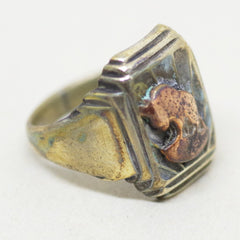 Gold on Silver Buffalo Ring