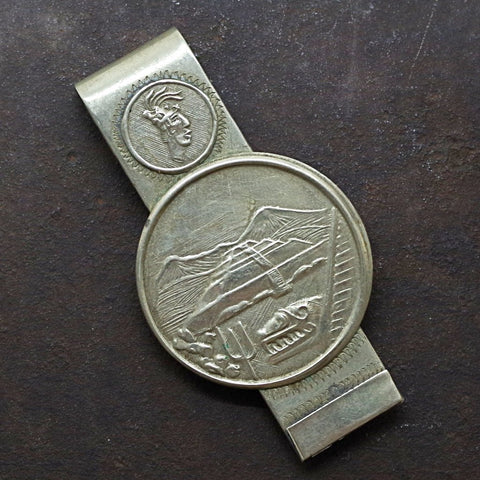 Silver Mexican Pyramid Money Clip