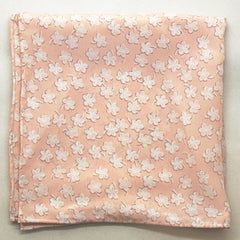 Light Pink Floral Silk Pocket Square by Put This On