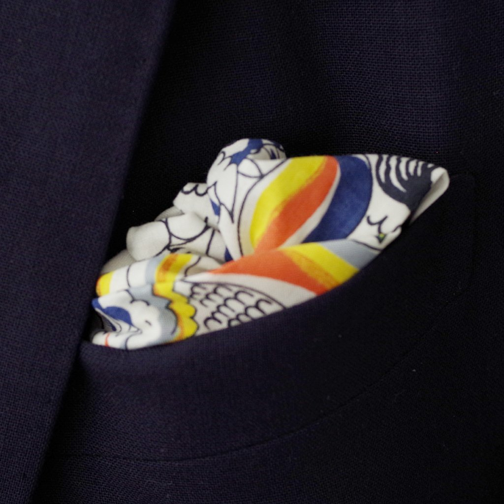 Eclectic Animal Print Cotton Pocket Square by Put This On