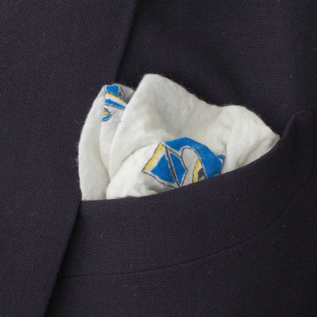 Racing Boat Seersucker Pocket Square by Put This On