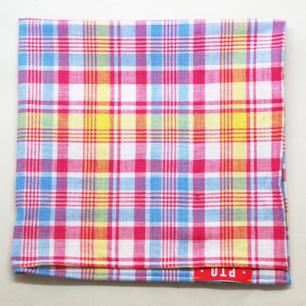 Summery Madras Pocket Square by Put This On