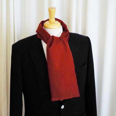 Maroon Wool and Cashmere Scarf