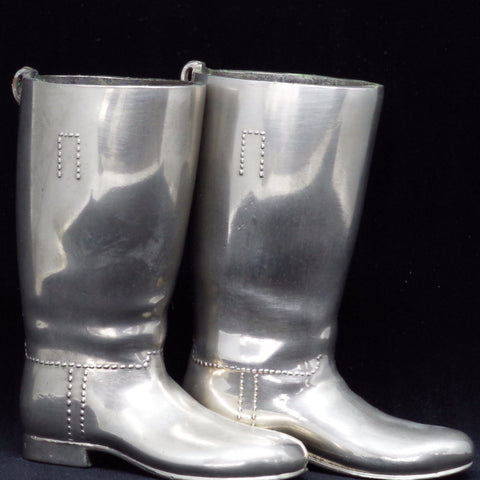 Silver Plated Boots