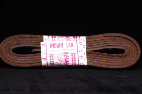 "Vintage NOS ""Indian Tan"" Leather Shoelaces"
