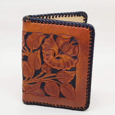 Tooled Floral and Braided Wallet