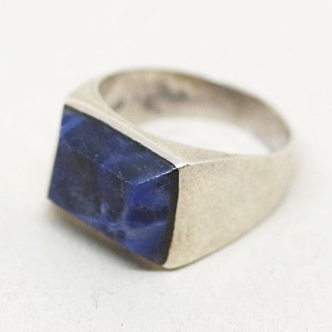 Sterling Blue Gem Ring