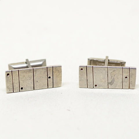 Sterling Dots and Dashes Cufflinks