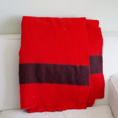 Vintage Hudson Bay Red Wool Blanket