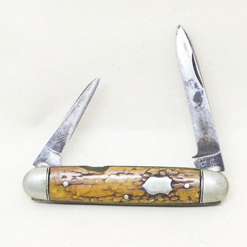 Faux Wood Pocket Knife
