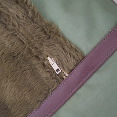 Fuzzy Military Duffle Bag