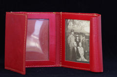 Red Leather Photo Wallet
