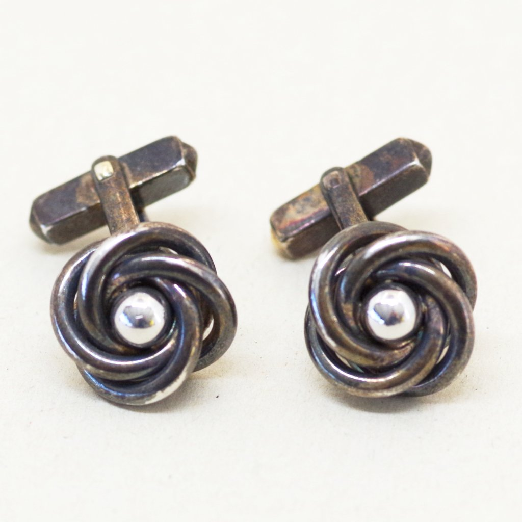Sterling Swirl Cufflinks