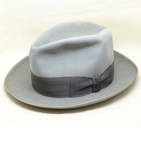 "Blue Grey Royal Stetson ""Whippet"" Fedora- 6 3/4"