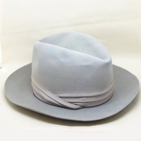 Blue Grey Royal Stetson de Luxe Stetson Fedora- 7 1/8