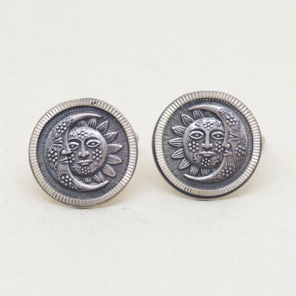 Sterling Sun & Moon Cufflinks