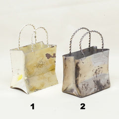 Silver Shopping Bags