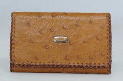 English Ostrich Leather Wallet