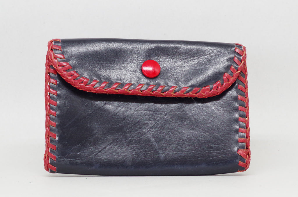 Red Braided Double Sided Purse