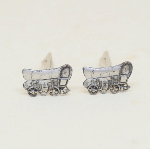 Sterling Covered Wagon Cufflinks