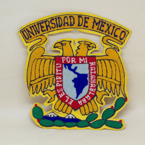Chainstitched Seal of the University of Mexico Patch