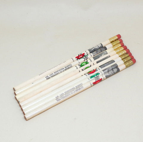 Set of 8 Luis Echeverría Mexican Campaign Pencils