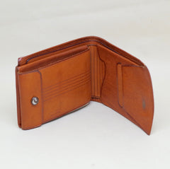 Mexican Motifs Leather Bifold Wallet