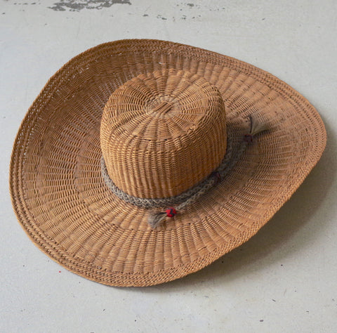 "Large ""Guadalupena"" Wicker Hat- 6 7/8"
