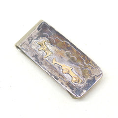 12kt Gold and Sterling Burro Money Clip