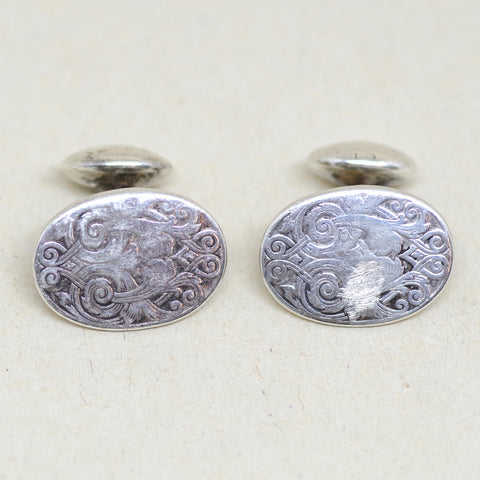 Baroque Victorian Sterling Cufflinks