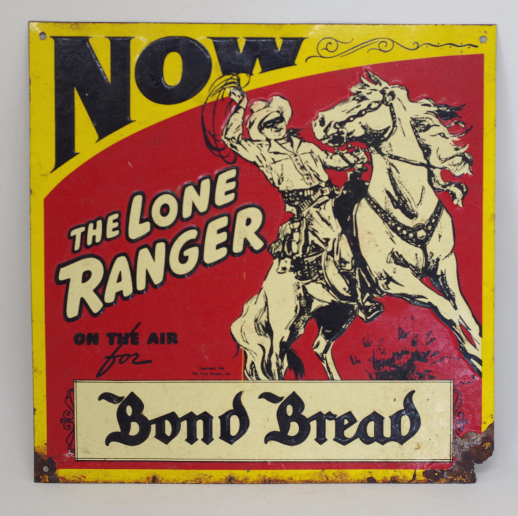 1930s Tin Lone Ranger Sign