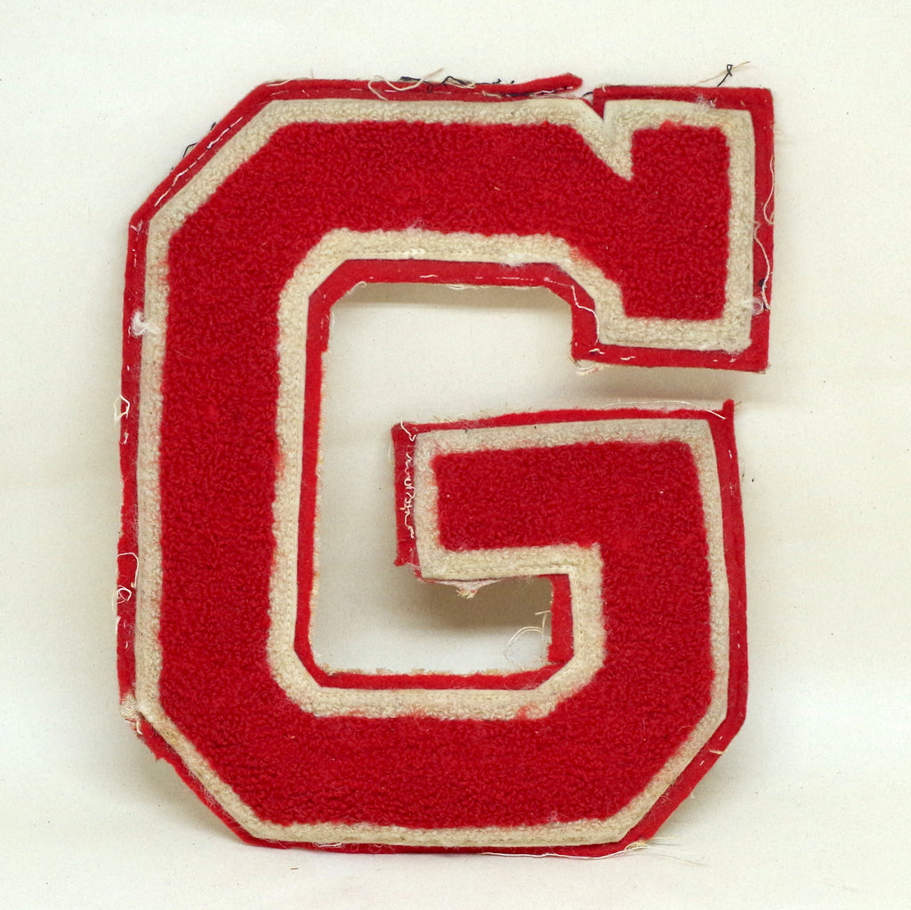 Circa 1950s Big Red G Letter Patch